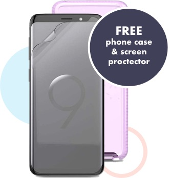 Free case and screen protector included