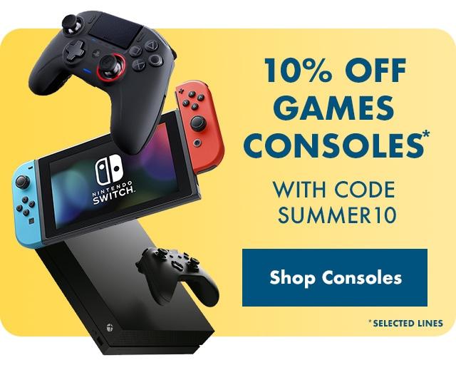 10% off Games Consoles