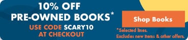 Halloween Sale 10% Off Pre-Owned Books