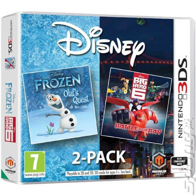 Compare retail prices of 2-Pack Frozen & Big Hero 6 Used Nintendo 3DS Game to get the best deal online
