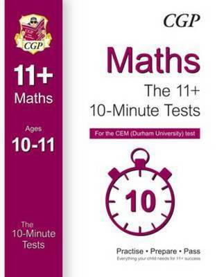 Compare cheap offers & prices of 10-Minute Tests for 11+ Maths ages 10-11 - Cem Test Hardback manufactured by Books