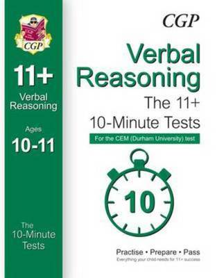 Compare cheap offers & prices of 10-Minute Tests for 11+ Verbal Reasoning ages 10-11 - Cem Test Hardback manufactured by Books