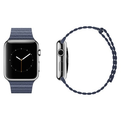 Ai090000014377  blue leather loop band  1