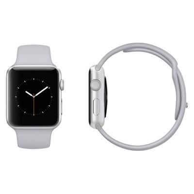best service d2f44 05e94 Apple Watch Series 3 GPS Silver Aluminium 42MM Fog Sport Band Good ...