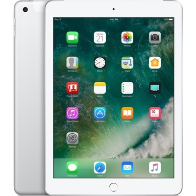 Apple iPad 5th Gen Wi-Fi + 4G 32GB Silver O2 Used/Refurbished cheapest retail price