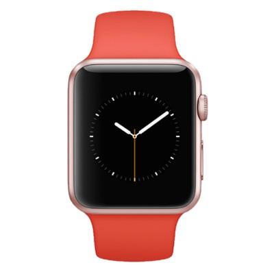 Apple Watch Sport Rose Gold Aluminium 38mm Orange Sport Band Good Musicmagpie Store