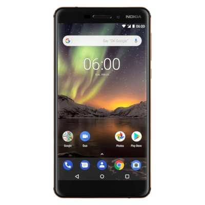 Nokia 6 2018 32GB Blue - Gold Unlocked - Sim-Free Mobile Phone