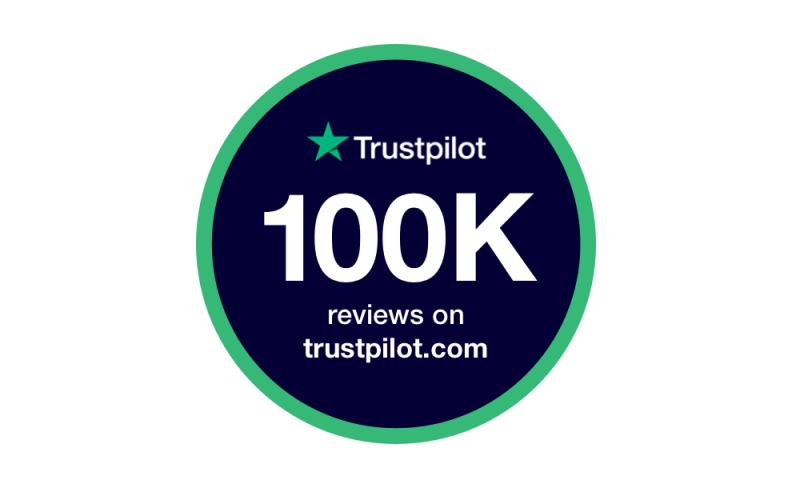 Trustpilot 100k badge