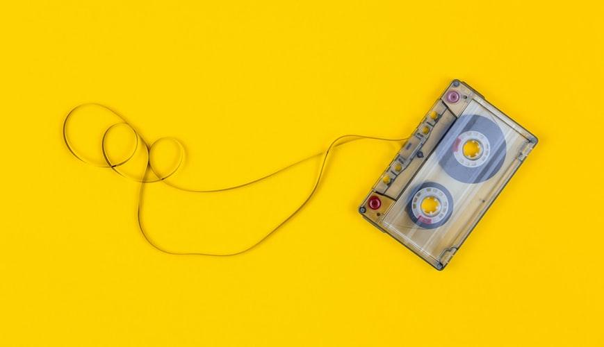 80s music casette tape